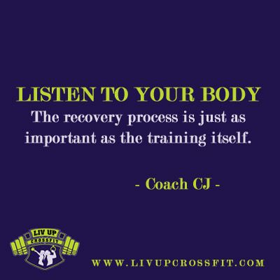 Are you Overtraining? Read Coach CJ's article to find out: http://www.livupcrossfit.com/articles/overtraining.html