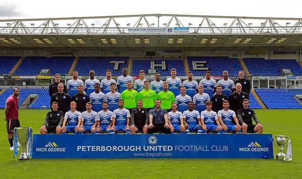 'Awkward' Ashley Cole also appears in Peterborough team photo