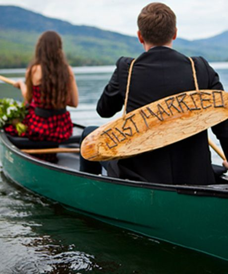 Love this photo in the canoe!