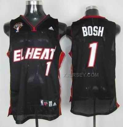 http://www.xjersey.com/heat-1-bosh-black-latin-night-jerseys.html HEAT 1 BOSH BLACK LATIN NIGHT JERSEYS Only $34.00 , Free Shipping!