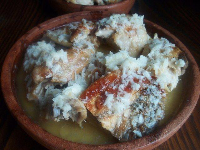Shkmeruli - Georgian Chicken cooked in Milk and Garlic