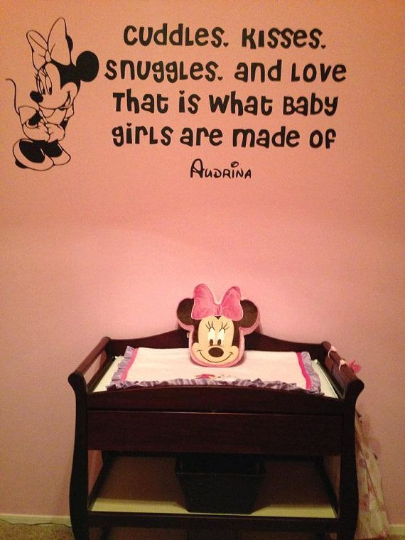 Disney Minnie Mouse Custom Wall Quote Decal Minnie Is The