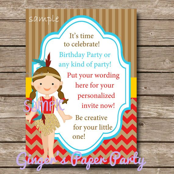 Cowboy And Indian Invitations were Best Layout To Create Lovely Invitations Card