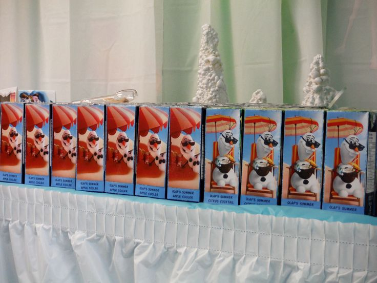 Juice box with Olaf label