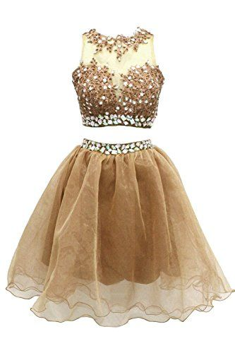 Wallbridal Two Pieces Lace Beaded Organza Cocktail Dress Homecoming Dress Prom (2, Gold) Wallbridal http://www.amazon.com/dp/B019GCL7H2/ref=cm_sw_r_pi_dp_eVJIwb0PZC6XE