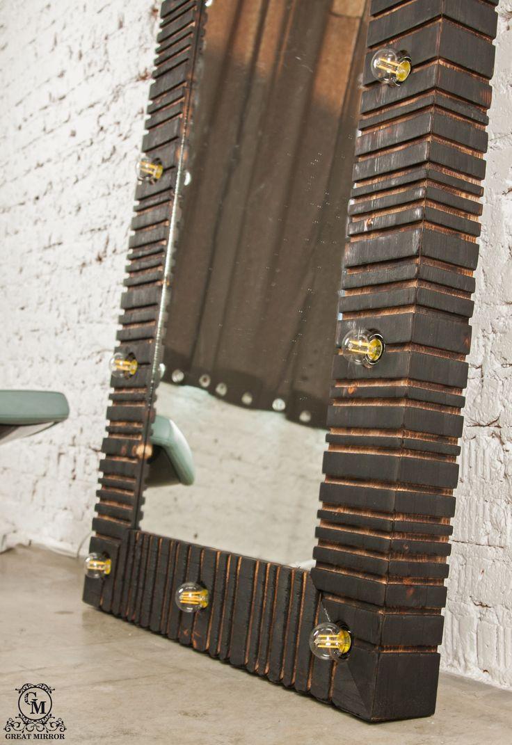 """Гримерное зеркало """"Древесный уголь"""" создано для тех, кто любит LOFT и тотальную индивидуальность.  Ручной обжиг и специальная техника фиксации угольной поверхности позволили нам создать уникальный дизайн зеркала. Его поверхность украшает естественный узор древесного угля, где мелкая сетка обугленной древесины переплетается с природным рисунком.   #гримерноезеркало #зеркало #mirror #makeup #makeupmirror #coal #carbon #уголь #обоженноедерево #Ray_Apple"""