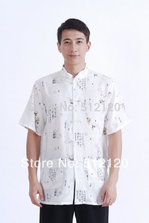 Free shipping new sale cotton linen shirt chinese traditional clothing chinese kung fu uniforms kungfu tee chinese shirt M0004