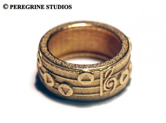 Zelda music ring by Peregrine Studios on Etsy