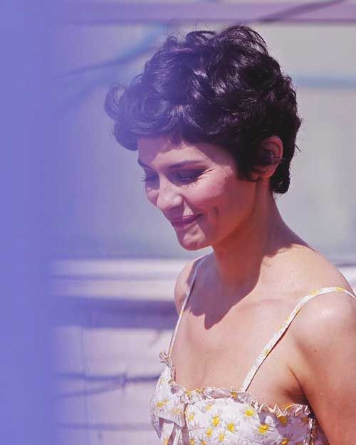 Audrey Tautou Curly Pixie Hair