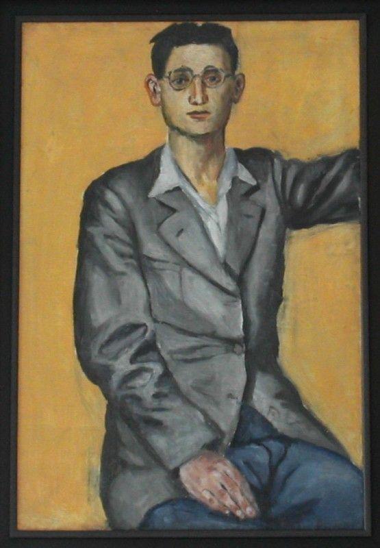 Wróblewski Andrzej - Autoportret 1949, olej na płótnie, Galeria Fibak