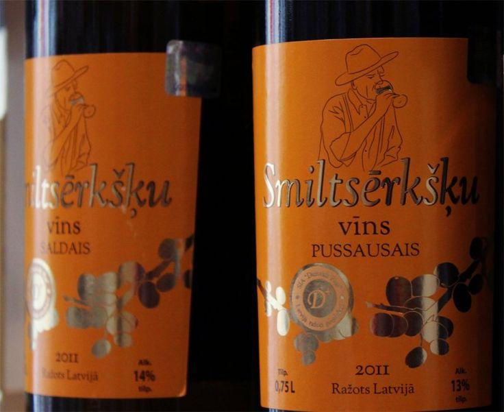Latvian sea buckthorn wine. Riga