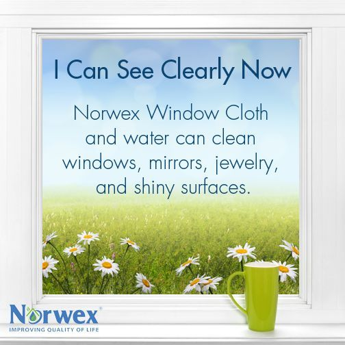 Add the fabulous Norwex Window Cloth to your Spring Cleaning day and make cleaning easy and fun!