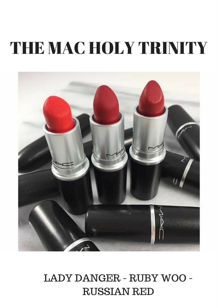 MAC Holy Trinity - 3 MUST HAVE RED LIPSTICKS