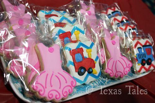 Tutus & Choo Choos party with sugar cookies by Sugar Coma Cookies (facebook.com/sugarcomacookies)