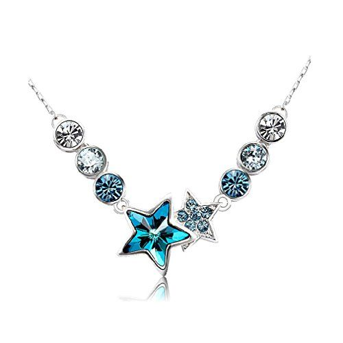 545 best girls necklaces chains images on pinterest girls rolove chain necklace with blue star rhinestones pendant with flexible buckle for girls read more at the image link aloadofball Gallery