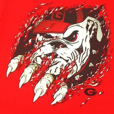 Ga Bulldog Clipart Georgia Bulldogs Mens Quot Ripped Quot T