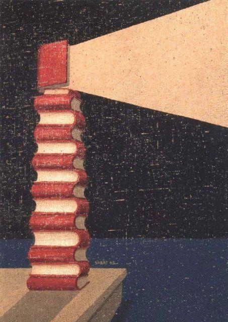 Books as a lighthouse in the darkness: Books, beacons of wisdom / Los libros, faros de la sabiduría (autor desconocido)