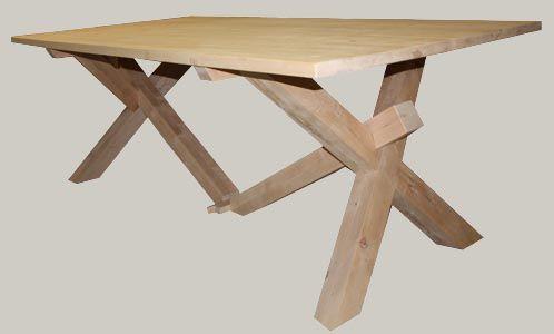 Ristokkojalkainen tammipöytä