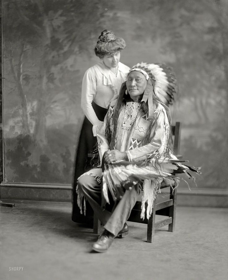 In 1913, the Sioux chief Hollow Horn Bear (whose image was on the $5 bill) led a delegation of Indians to the inauguration of President Woodrow Wilson. He caught pneumonia during the visit and died.