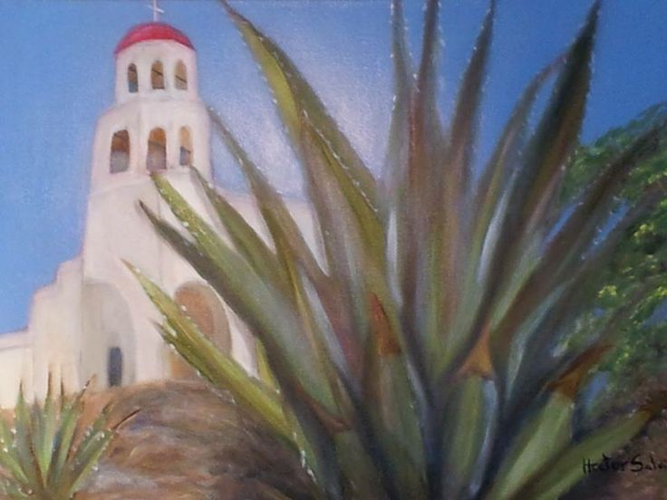 """Agave"" by Hector Saldivar , Oil on Canvas,  $325"