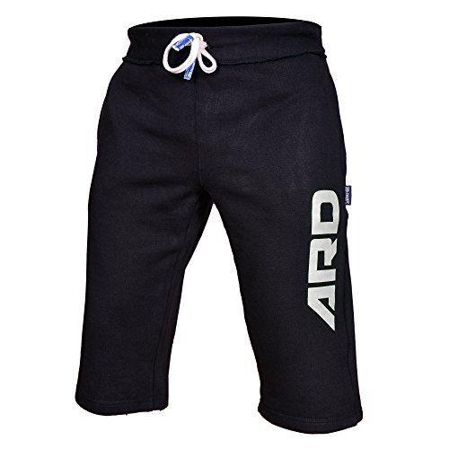 Mens Cotton Fleece Shorts Jogging Casual Home Wear MMA Boxing Jogger (S-xxl) (Black, Medium) - http://www.exercisejoy.com/mens-cotton-fleece-shorts-jogging-casual-home-wear-mma-boxing-jogger-s-xxl-black-medium/athletic-clothing/