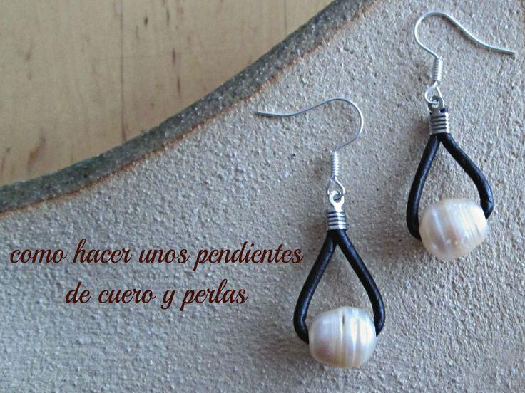 tutorial de pendientes, tutorial de pendientes de nudos y perlas, como hacer unos pendientes sencillo paso a paso, pendientes diy, pendiente...