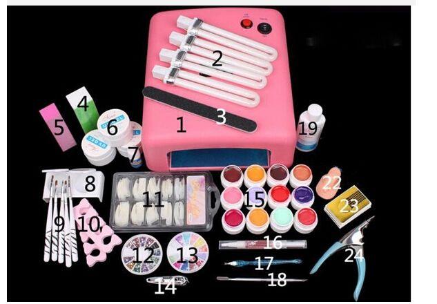 45.00$  Watch more here  - New Pro Nail Art Tools polish Set UV Kit nail gel nail tools 36W Timer Dryer Lamp Decorations Kit manicure acrylic nail kit UV