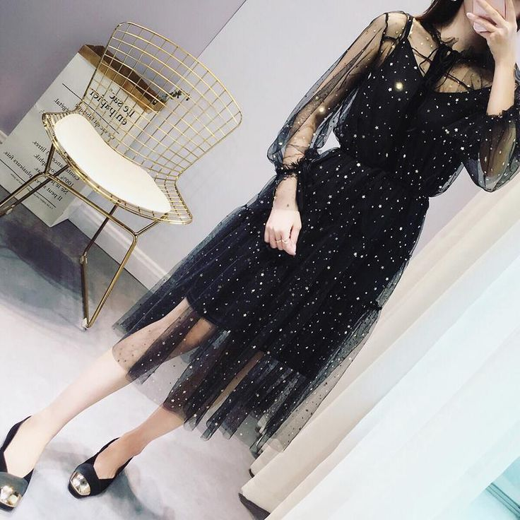 Star Mesh Dress - syndrome store