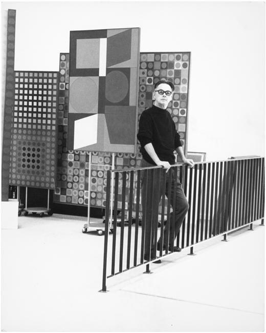 Victor Vasarely dans son atelier,  Denise Colomb