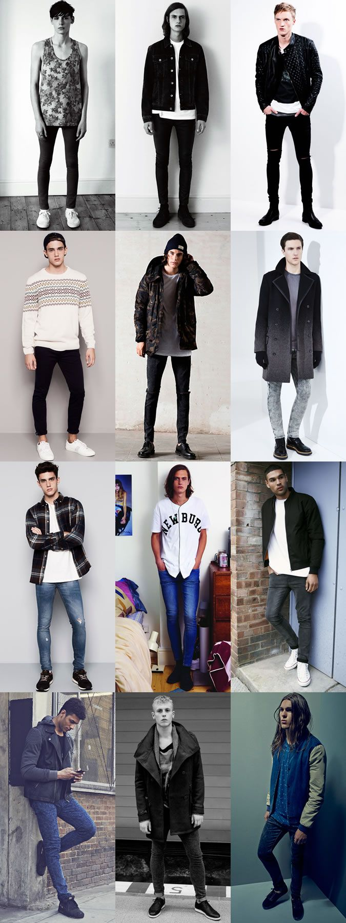 Men's Spray On Skinny Jeans Outfit Inspiration Lookbook