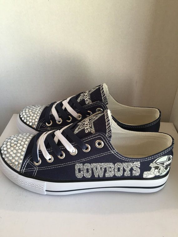 Dallas Cowboys women's bling and Glitter tennis by sportshoequeen