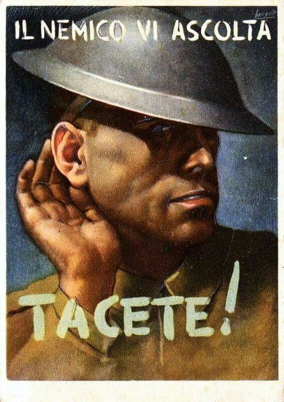 Keep your mouth shut the enemy is listening gino boccasile 1942 via beniculturalionline on fb