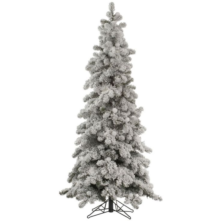 Vickerman 8 ft. Flocked Kodiak Spruce Christmas Tree - A146880