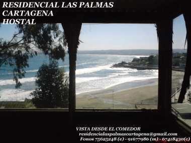 RESIDENCIAL LAS PALMAS (Hostal-Alojamiento)Mágica Vista al Mar  KAJAK SURF                                          Cartagena                                                  CHILE                                                 ATENDEMOS TODO EL AÑO---