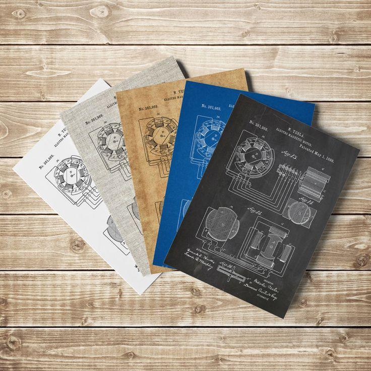 Nikola Tesla Motor, Tesla Patent Print, Tesla Motors,Tesla Motors Art,Tesla Motor Poster,Tesla Motor Patent,Magnetic Motor http://etsy.me/2ErVvKM #art #prin #teslapatent #patentprints #teslamotorprint #teslamotorpatent #teslamotorposter #electric #motor #nikolatesla