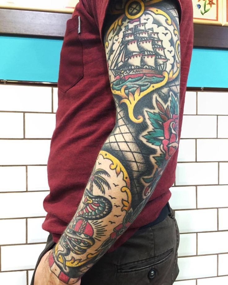 Tattoo Sleeve Filler Ideas For A Woman: The 25+ Best Traditional Tattoo Sleeve Filler Ideas On