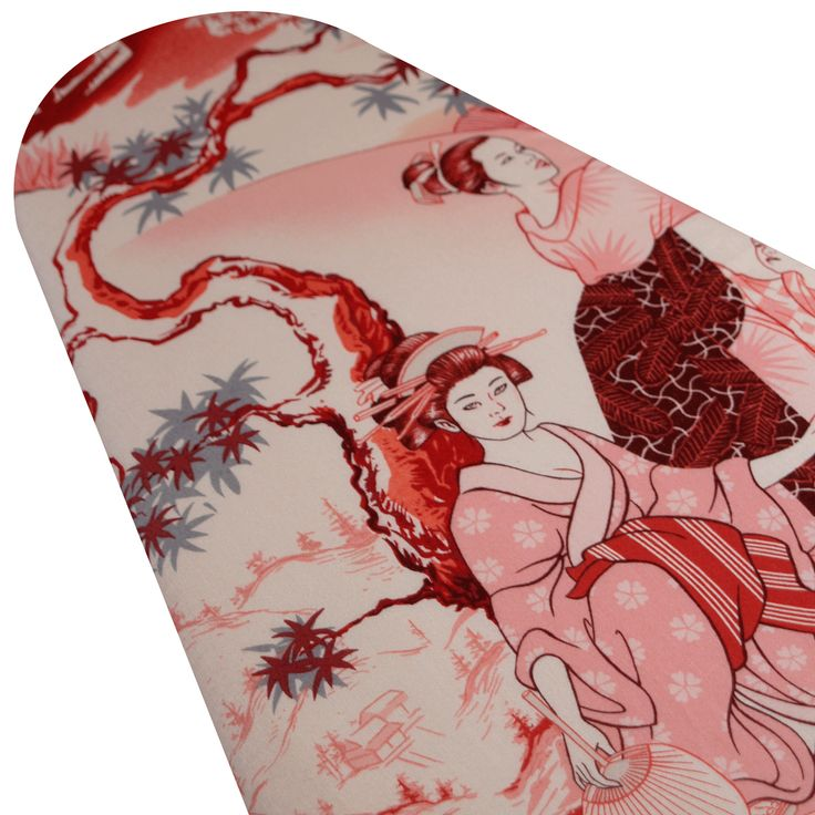 Ironing Board Cover Custom Designer ironing board cover Alexander Henry Asian Four Seasons Red pick the size