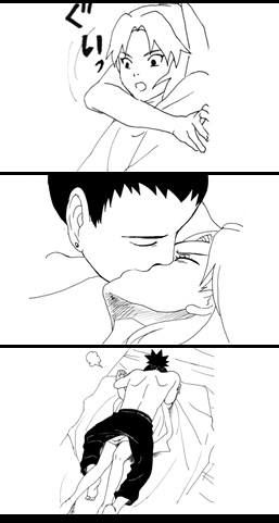 Shikamaru and Temari fan comic. Page 3.