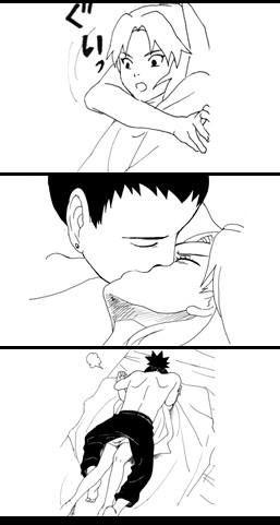 Shikamaru and Temari fan comic. Page 3.
