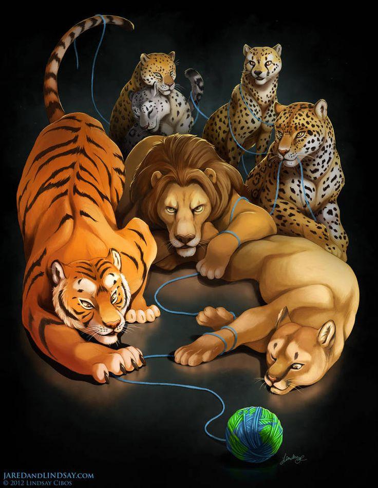 Арт картинки дикие кошки наличие
