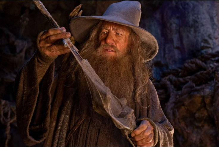 Glamdring (Sindarin, meaning: Foe-Hammer) was a two-handed sword, forged for the Elf Turgon, the King of Gondolin. Turgon wielded Glamdring in the Nirnaeth Arnoediad, and in the Fall of Gondolin. For over 6000 years it went missing until Gandalf and company found it (along with Sting and Orcrist) in the trolls' cave in The Hobbit and claimed it for himself. He continued to use Glamdring through the events of The Lord of the Rings, and it is kept safe in the treasure vault at Minas Tirith.