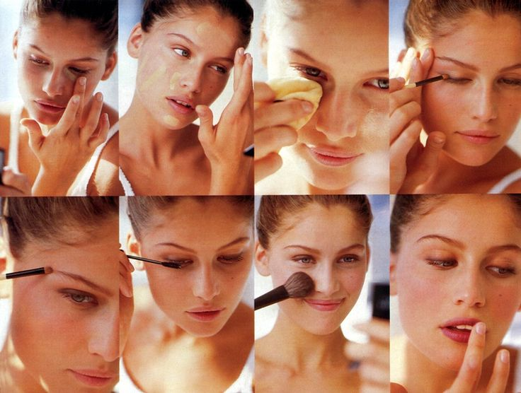 "// FLAT 128  ""The Simplest Makeup Ever!"", GLAMOUR US, March 1995Photographer: Nesti MendozaModel: Laetitia Casta"
