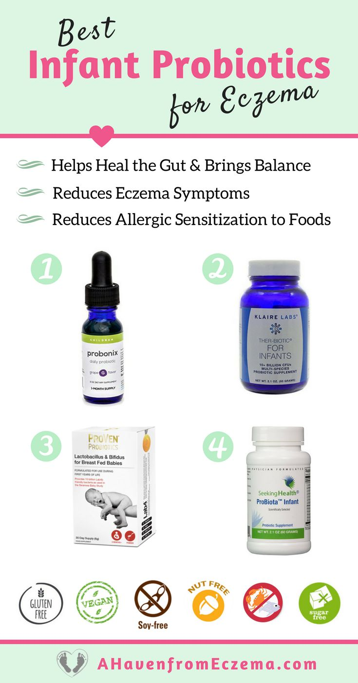 With probiotic supplementation, babies and children with eczema experience better sleep, and reduced symptoms. In an infant's early life, this gut balance can be altered but by the age of 2 years old, the gut flora becomes static. This means that if your child develops eczema as an infant, you have until the age of 2 to repair the gut for life. Probiotics is the most effective way to help bring balance back to the gut.