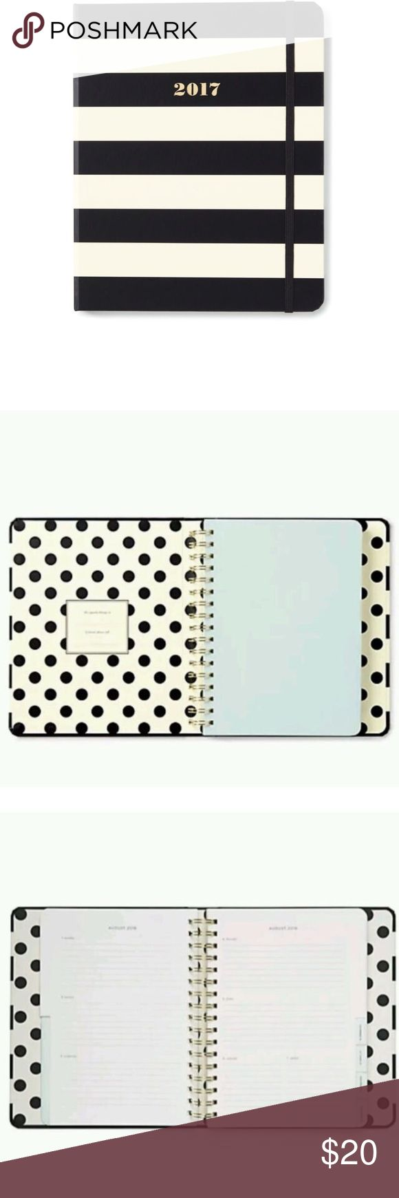 Kate Spade - Set the Stage Medium 17-month Agenda Kate Spade - Set the Stage Medium 17-month Agenda Black Stripe. New in original Packaging. kate spade Other