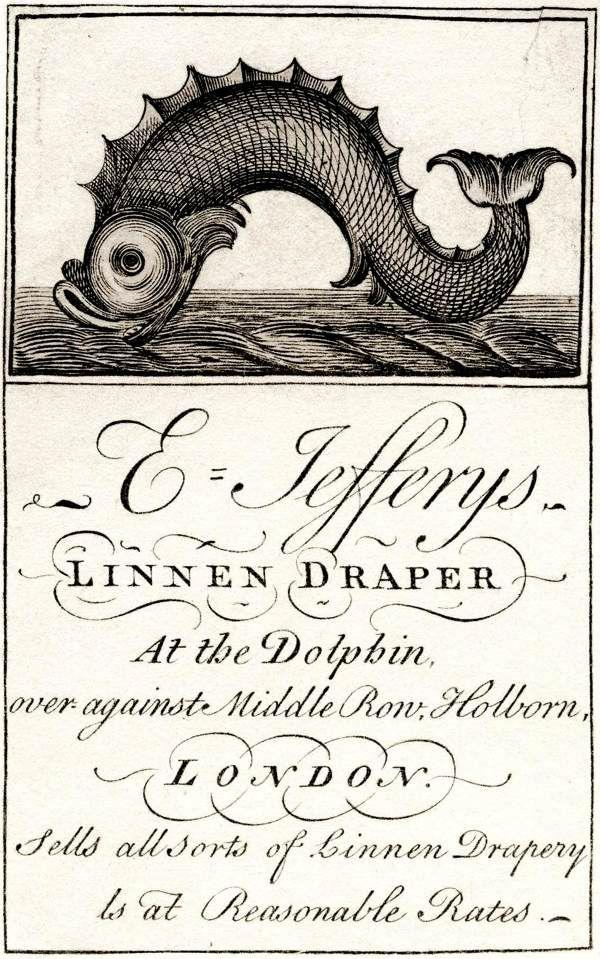 The lettering! So many more fantastic antique trade card images at Spitalfieldslife.com (Images courtesy Bishopsgate Institute)