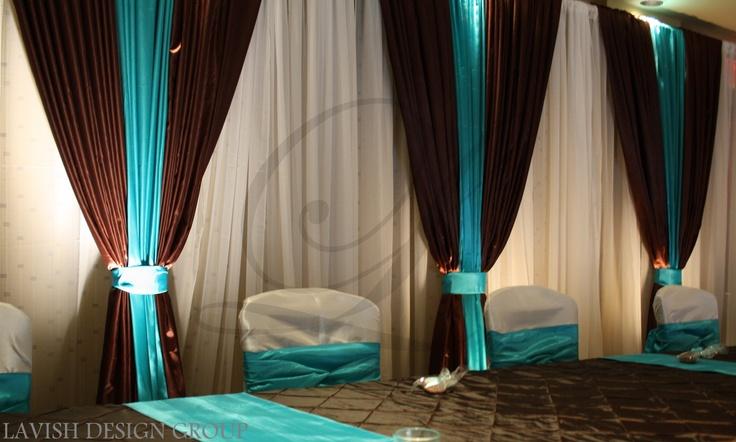 Chocolate And Teal Wedding Reception: Chocolate Brown And Teal Www.lavishdesigngroup.com
