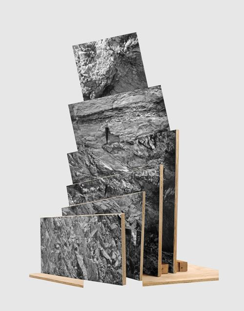 "Artist Jason Gowans // [""Five Landscape Modes"", sculptures by Jason Gowans made from his photos, found negatives, and images from the Internet.]"