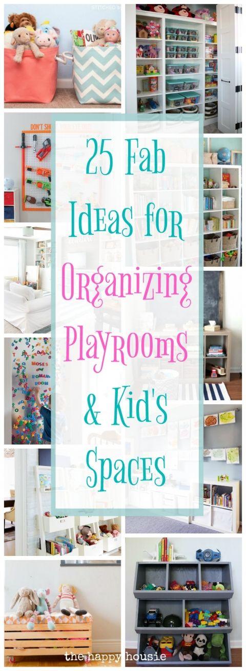 25 Fab Ideas for Organizing Playrooms u0026