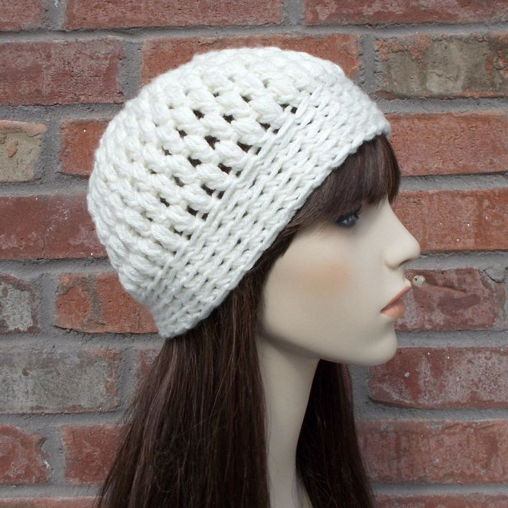 The bobbled texture of the ivory / cream beanie hat gives it added plush softness, and snuggly warmth. A really cute hat for the sweet girl in your life. Hand crocheted using an uber soft acrylic yarn