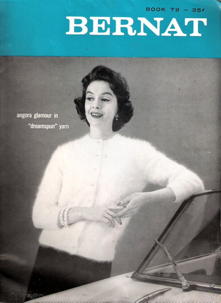 Vintage 1959 Bernat Book 79 Angora Glamour in by Recycledelic1
